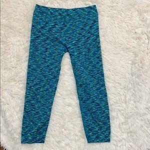 Pants - BOGO! Cropped Blue Multi Leggings